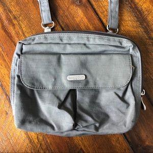Baggallini Gray Yellow Travel Crossbody Bag